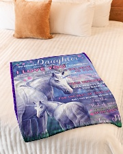 """BL10015 - Beloved Daughter Unicorn 2 Small Fleece Blanket - 30"""" x 40"""" aos-coral-fleece-blanket-30x40-lifestyle-front-01"""