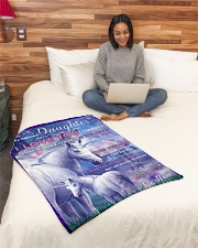 """BL10015 - Beloved Daughter Unicorn 2 Small Fleece Blanket - 30"""" x 40"""" aos-coral-fleece-blanket-30x40-lifestyle-front-08"""