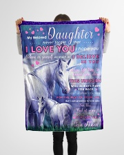 """BL10015 - Beloved Daughter Unicorn 2 Small Fleece Blanket - 30"""" x 40"""" aos-coral-fleece-blanket-30x40-lifestyle-front-14"""