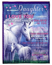 "BL10015 - Beloved Daughter Unicorn 2 Small Fleece Blanket - 30"" x 40"" front"