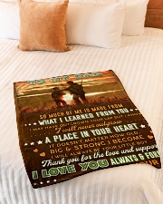 """BL10094 - To My Dad Hunting Love Son Small Fleece Blanket - 30"""" x 40"""" aos-coral-fleece-blanket-30x40-lifestyle-front-01"""