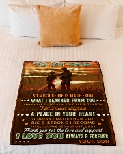 """BL10094 - To My Dad Hunting Love Son Small Fleece Blanket - 30"""" x 40"""" aos-coral-fleece-blanket-30x40-lifestyle-front-04"""
