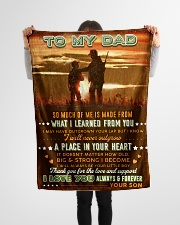 """BL10094 - To My Dad Hunting Love Son Small Fleece Blanket - 30"""" x 40"""" aos-coral-fleece-blanket-30x40-lifestyle-front-14"""