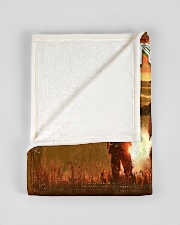 """BL10094 - To My Dad Hunting Love Son Small Fleece Blanket - 30"""" x 40"""" aos-coral-fleece-blanket-30x40-lifestyle-front-17"""