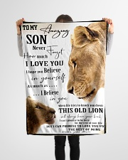 """FBC10036 - Mother and Son Lions Small Fleece Blanket - 30"""" x 40"""" aos-coral-fleece-blanket-30x40-lifestyle-front-14"""
