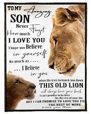"""FBC10036 - Mother and Son Lions Small Fleece Blanket - 30"""" x 40"""" front"""
