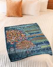 """BL10024 - To My Daughter I Want You To Believe Small Fleece Blanket - 30"""" x 40"""" aos-coral-fleece-blanket-30x40-lifestyle-front-01"""