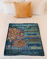 """BL10024 - To My Daughter I Want You To Believe Small Fleece Blanket - 30"""" x 40"""" aos-coral-fleece-blanket-30x40-lifestyle-front-04"""