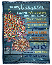 """BL10024 - To My Daughter I Want You To Believe Small Fleece Blanket - 30"""" x 40"""" front"""