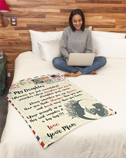 """FBL10022 To My Daughter Mom Letter Family Small Fleece Blanket - 30"""" x 40"""" aos-coral-fleece-blanket-30x40-lifestyle-front-08"""