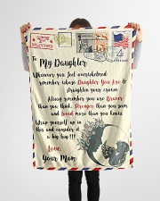 """FBL10022 To My Daughter Mom Letter Family Small Fleece Blanket - 30"""" x 40"""" aos-coral-fleece-blanket-30x40-lifestyle-front-14"""