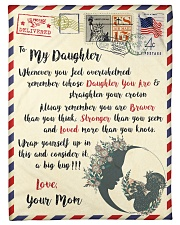 """FBL10022 To My Daughter Mom Letter Family Small Fleece Blanket - 30"""" x 40"""" front"""