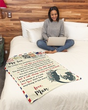 """FBL10073 To My Son Mom Letter Family Small Fleece Blanket - 30"""" x 40"""" aos-coral-fleece-blanket-30x40-lifestyle-front-08"""