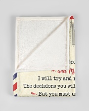 """FBL10073 To My Son Mom Letter Family Small Fleece Blanket - 30"""" x 40"""" aos-coral-fleece-blanket-30x40-lifestyle-front-17"""