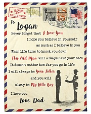"""FBL10013E - To Logan Dad Letter Family Small Fleece Blanket - 30"""" x 40"""" front"""
