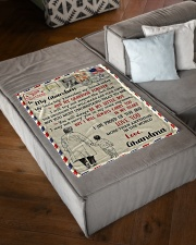 """FBL10054 To My Grandson Letter Family Small Fleece Blanket - 30"""" x 40"""" aos-coral-fleece-blanket-30x40-lifestyle-front-03"""