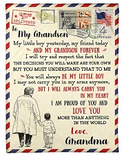 """FBL10054 To My Grandson Letter Family Small Fleece Blanket - 30"""" x 40"""" front"""