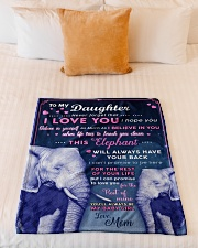 """BL10018P - Beloved Daughter Elephant-Personalized Small Fleece Blanket - 30"""" x 40"""" aos-coral-fleece-blanket-30x40-lifestyle-front-04"""