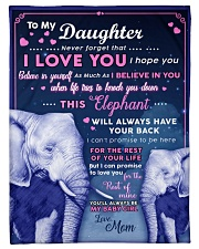 """BL10018P - Beloved Daughter Elephant-Personalized Small Fleece Blanket - 30"""" x 40"""" front"""