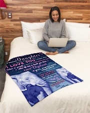 """BL10018 - Beloved Daughter Elephant 1 Small Fleece Blanket - 30"""" x 40"""" aos-coral-fleece-blanket-30x40-lifestyle-front-08"""