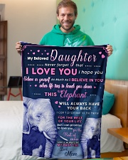 """BL10018 - Beloved Daughter Elephant 1 Small Fleece Blanket - 30"""" x 40"""" aos-coral-fleece-blanket-30x40-lifestyle-front-09"""