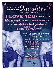 "BL10018 - Beloved Daughter Elephant 1 Small Fleece Blanket - 30"" x 40"" front"