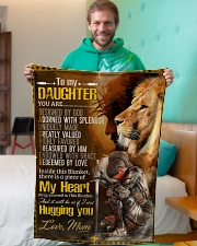 """Jes10085 - Daughter Designed By God Small Fleece Blanket - 30"""" x 40"""" aos-coral-fleece-blanket-30x40-lifestyle-front-09"""