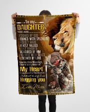 """Jes10085 - Daughter Designed By God Small Fleece Blanket - 30"""" x 40"""" aos-coral-fleece-blanket-30x40-lifestyle-front-14"""