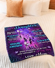 """BL10060 - Daughter Butterfly Night Mom Love Small Fleece Blanket - 30"""" x 40"""" aos-coral-fleece-blanket-30x40-lifestyle-front-01"""