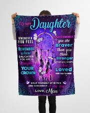 """BL10060 - Daughter Butterfly Night Mom Love Small Fleece Blanket - 30"""" x 40"""" aos-coral-fleece-blanket-30x40-lifestyle-front-14"""