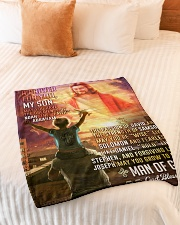 """JES10079BL - A Prayer For My Son Small Fleece Blanket - 30"""" x 40"""" aos-coral-fleece-blanket-30x40-lifestyle-front-01"""