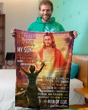 """JES10079BL - A Prayer For My Son Small Fleece Blanket - 30"""" x 40"""" aos-coral-fleece-blanket-30x40-lifestyle-front-09"""