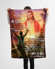 """JES10079BL - A Prayer For My Son Small Fleece Blanket - 30"""" x 40"""" aos-coral-fleece-blanket-30x40-lifestyle-front-14"""