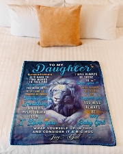 """BL10048 - To My Daughter Dad Letter Lion Small Fleece Blanket - 30"""" x 40"""" aos-coral-fleece-blanket-30x40-lifestyle-front-04"""