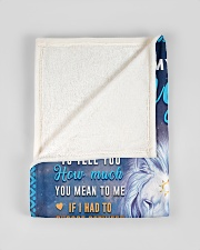 """BL10048 - To My Daughter Dad Letter Lion Small Fleece Blanket - 30"""" x 40"""" aos-coral-fleece-blanket-30x40-lifestyle-front-17"""