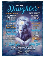 """BL10048 - To My Daughter Dad Letter Lion Small Fleece Blanket - 30"""" x 40"""" front"""