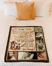 """BL10029 - To My Wife Your Last Everything Small Fleece Blanket - 30"""" x 40"""" aos-coral-fleece-blanket-30x40-lifestyle-front-04"""