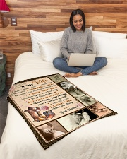 """BL10029 - To My Wife Your Last Everything Small Fleece Blanket - 30"""" x 40"""" aos-coral-fleece-blanket-30x40-lifestyle-front-08"""