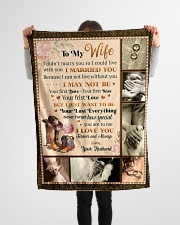 """BL10029 - To My Wife Your Last Everything Small Fleece Blanket - 30"""" x 40"""" aos-coral-fleece-blanket-30x40-lifestyle-front-14"""