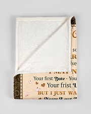 """BL10029 - To My Wife Your Last Everything Small Fleece Blanket - 30"""" x 40"""" aos-coral-fleece-blanket-30x40-lifestyle-front-17"""