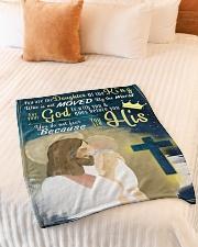 "JES10049BL - Jesus Christ  Small Fleece Blanket - 30"" x 40"" aos-coral-fleece-blanket-30x40-lifestyle-front-01"