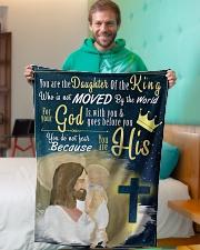 "JES10049BL - Jesus Christ  Small Fleece Blanket - 30"" x 40"" aos-coral-fleece-blanket-30x40-lifestyle-front-09"