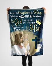 "JES10049BL - Jesus Christ  Small Fleece Blanket - 30"" x 40"" aos-coral-fleece-blanket-30x40-lifestyle-front-14"