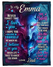 """BL10056N - To My Emma Dad Letter Small Fleece Blanket - 30"""" x 40"""" front"""