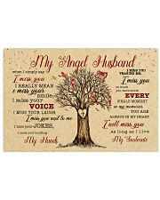 CV10002-1 - My Angel Husband Cardinals 17x11 Poster front