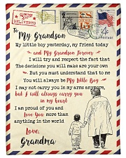 """FBL10056 To My Grandson Letter Family Small Fleece Blanket - 30"""" x 40"""" front"""
