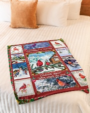 """BL10026 - Cardinals Angels Christmas Small Fleece Blanket - 30"""" x 40"""" aos-coral-fleece-blanket-30x40-lifestyle-front-01"""
