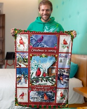 """BL10026 - Cardinals Angels Christmas Small Fleece Blanket - 30"""" x 40"""" aos-coral-fleece-blanket-30x40-lifestyle-front-09"""