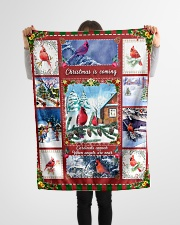 """BL10026 - Cardinals Angels Christmas Small Fleece Blanket - 30"""" x 40"""" aos-coral-fleece-blanket-30x40-lifestyle-front-14"""