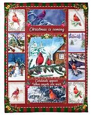 "BL10026 - Cardinals Angels Christmas Small Fleece Blanket - 30"" x 40"" front"